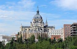 Cathédrale d'Almudena, Madrid, Espagne Photo libre de droits