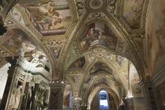 Cathédrale d'Amalfi, crypte de St Andrew Image stock