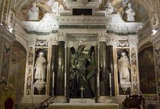 Cathédrale d'Amalfi, crypte de St Andrew, autel Photos stock