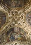 Cathédrale d'Amalfi, crypte de St Andrew, détail de fresque Image libre de droits