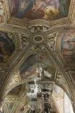 Cathédrale d'Amalfi, crypte de St Andrew, détail de plafond Images libres de droits