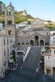 Cathédrale d'Amalfi - Italie Photographie stock libre de droits