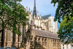cathédrale d'amiens Architecture gothique française Image stock
