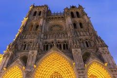 Cathédrale d'Amiens dans les Frances Photos libres de droits