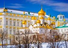 Cathédrale d'annonce de Moscou le Kremlin Photographie stock libre de droits