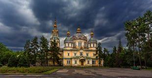 Cathédrale d'ascension à Almaty image libre de droits