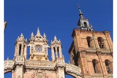 Cathédrale d'Astorga - Espagne Images libres de droits