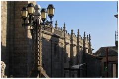 Cathédrale d'Avila Image stock