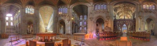 Cathédrale d'Ely - 360 degrés de vue panoramique Photographie stock