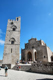 Cathédrale d'Erice - la Sicile (Italie) Photo stock