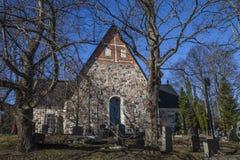 Cathédrale d'Espoo en premier ressort photo stock