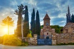 Cathédrale d'Ikalto en Géorgie Photographie stock