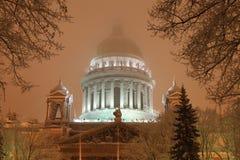Cathédrale d'Isaac de Saint-Petersburgs Images libres de droits