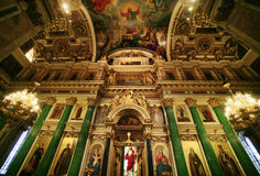 Cathédrale d'Isaak de saint. Photo libre de droits