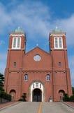 Cathédrale d'Urakami, Nagasaki Japon Image libre de droits