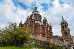 Cathédrale d'Uspenski à Helsinki, Finlande Photo stock