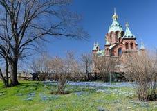 Cathédrale d'Uspenski, buildin oriental du 19ème siècle d'église orthodoxe Photographie stock