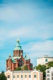Cathédrale d'Uspenski, Helsinki à l'été Sunny Day Images libres de droits