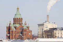 Cathédrale d'Uspenski, Helsinki Photos stock