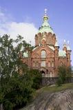 Cathédrale d'Uspesky à Helsinki Images libres de droits
