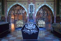 Cathédrale Danemark de Roskilde de chapelle du ` s du chrétien IV images libres de droits