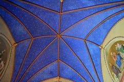 Cathédrale Danemark de Roskilde de plafond de chapelle du ` s du chrétien IV images libres de droits