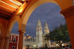 Cathédrale dans Campeche photos libres de droits