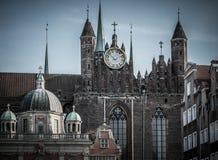 Cathédrale dans la ville de Danzig, Pologne Photos stock