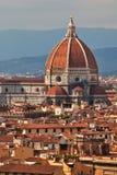 Cathédrale dans le dôme de force de Florence. Photos libres de droits