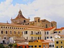 Cathédrale dans Mahon sur Minorca Photos stock