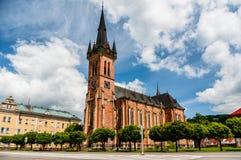 Cathédrale dans Vrchlabi, République Tchèque Photo libre de droits
