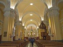Cathédrale De Arequipa, Pérou. Image stock