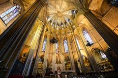 Cathédrale de Barcelone, vieille ville Barcelone, Espagne Photos libres de droits