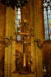 Cathédrale de Barcelone, vieille ville Barcelone, Espagne Image stock