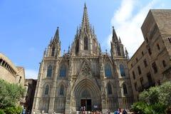 Cathédrale de Barcelone, vieille ville Barcelone, Espagne Photographie stock
