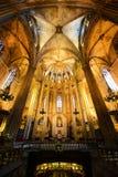 Cathédrale de Barcelone, vieille ville Barcelone, Espagne Image libre de droits