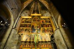 Cathédrale de Barcelone, vieille ville Barcelone, Espagne Photos stock
