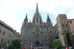 Cathédrale de Barcelone, vieille ville Barcelone, Espagne Photo libre de droits