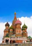 Cathédrale de basilic de rue dans le grand dos rouge, Moscou. Photo stock