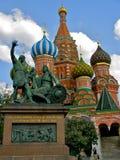 Cathédrale de basilic de rue, Moscou Photographie stock