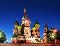 Cathédrale de basilic de saint à Moscou Photo stock