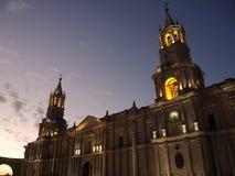Cathédrale de basilique d'Arequipa photo stock