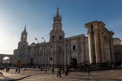 Cathédrale de basilique d'Arequipa image stock