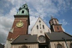 Cathédrale de côte de Wawel Image libre de droits