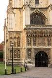 Cathédrale de Cantorbéry avec de belles sculptures sur l'extérieur Images libres de droits