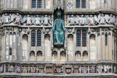 Cathédrale de Cantorbéry d'entrée de façade, Kent, Angleterre photos libres de droits