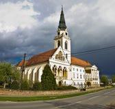 Cathédrale de catholique grec dans Krizevci Photos stock