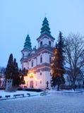Cathédrale de catholique grec dans Ternopil Images libres de droits