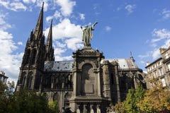 Cathédrale de Clermont-Ferrand dans les Frances Image libre de droits