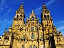 Cathédrale de compostela de Santiago Image libre de droits